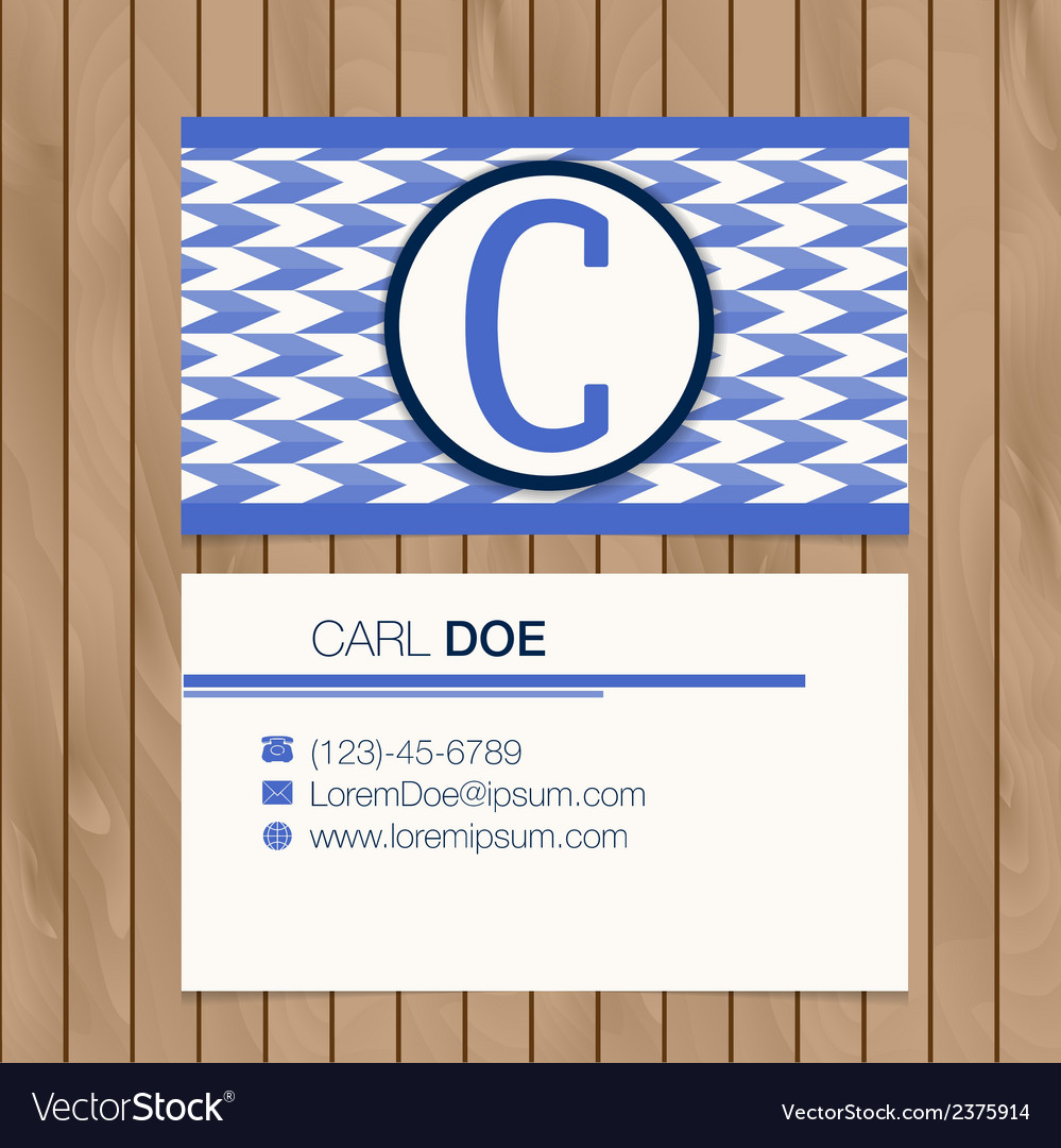 Business card with alphabet letter on a wood vector   Price: 1 Credit (USD $1)