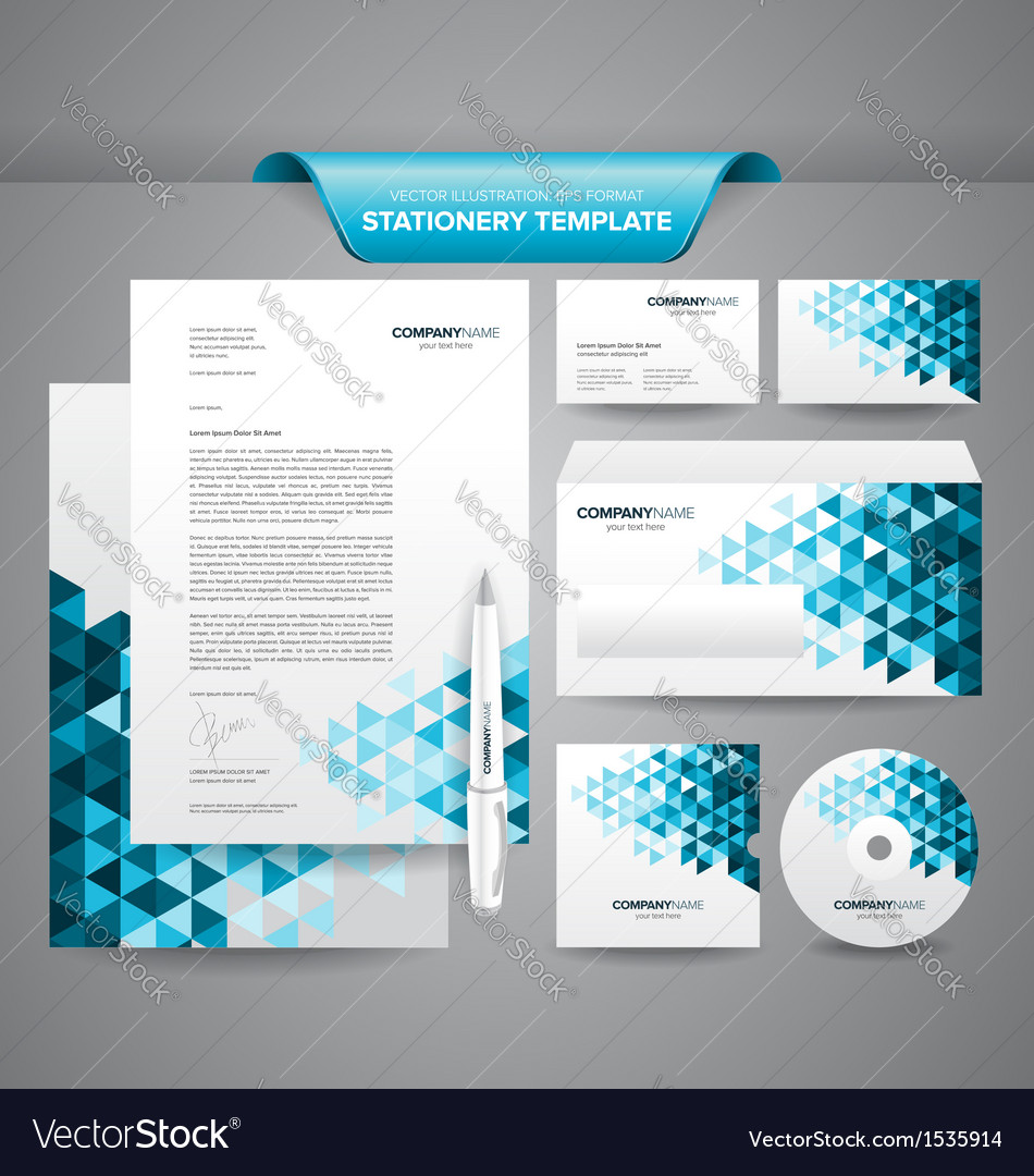 Business stationery templates vector | Price: 1 Credit (USD $1)
