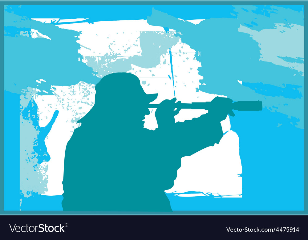 Fisherman silhouette vector | Price: 1 Credit (USD $1)