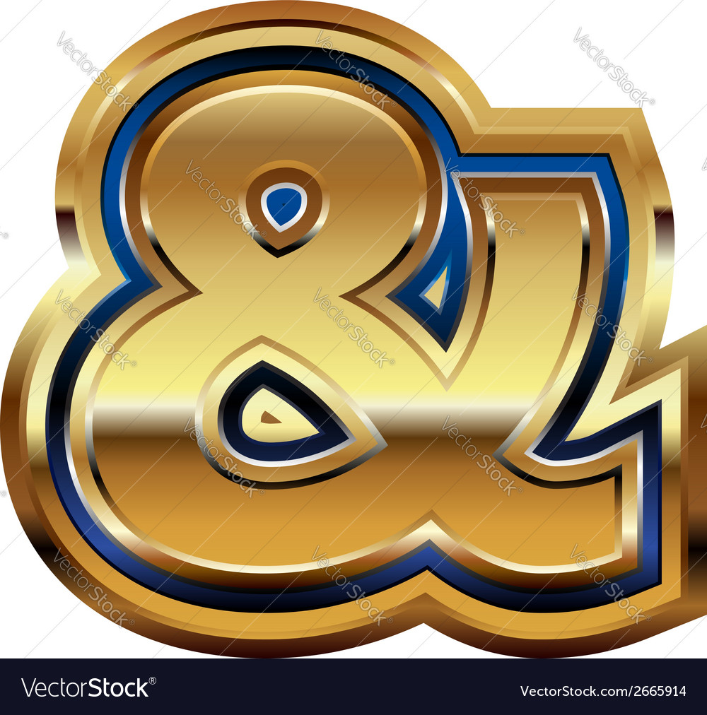 Golden font symbol vector   Price: 1 Credit (USD $1)
