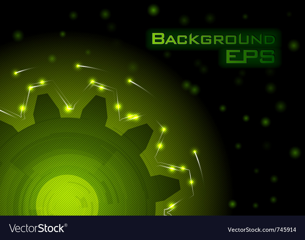 Green tech background - eps10 vector | Price: 1 Credit (USD $1)