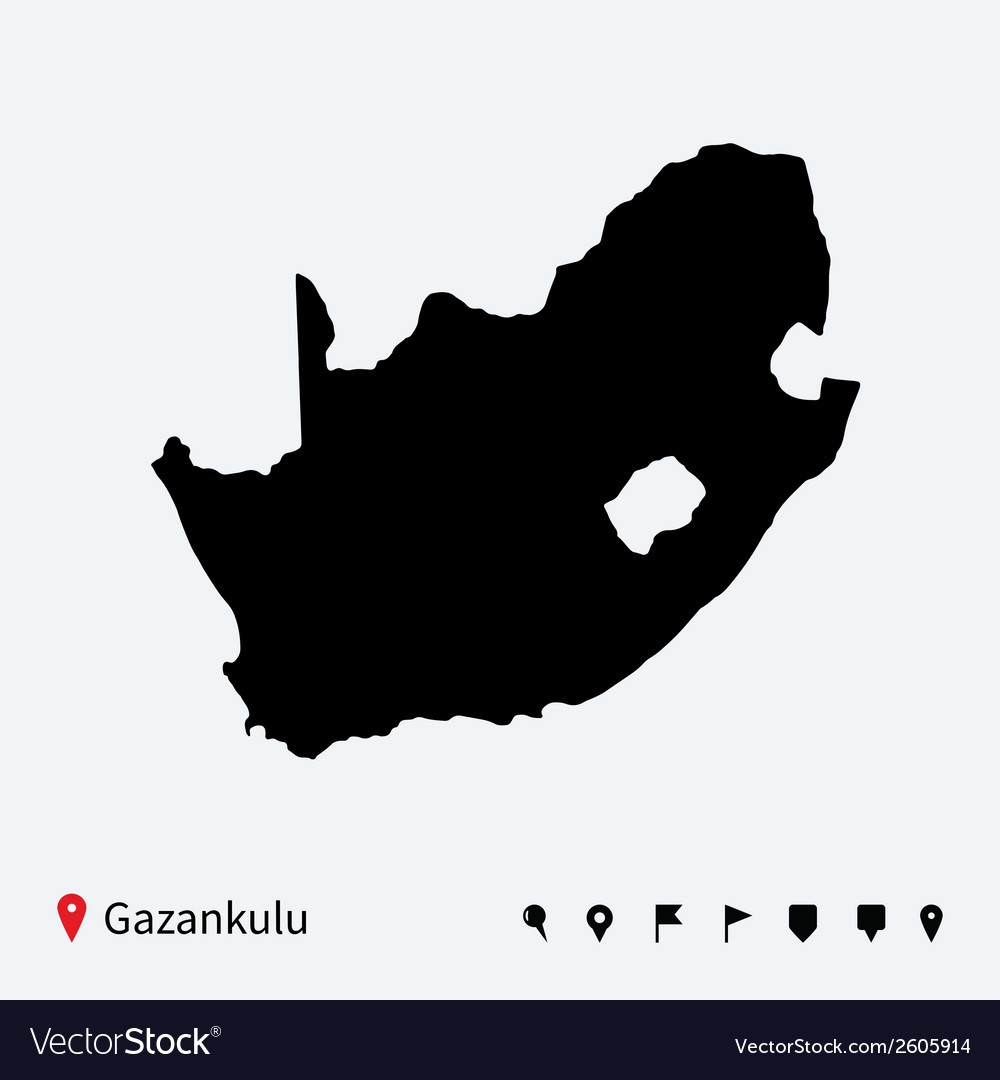 High detailed map of gazankulu with navigation vector | Price: 1 Credit (USD $1)