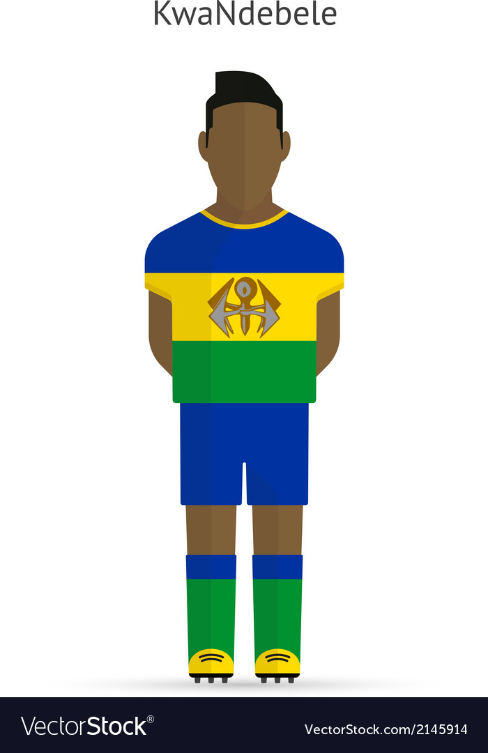 Kwandebele football player soccer uniform vector | Price: 1 Credit (USD $1)