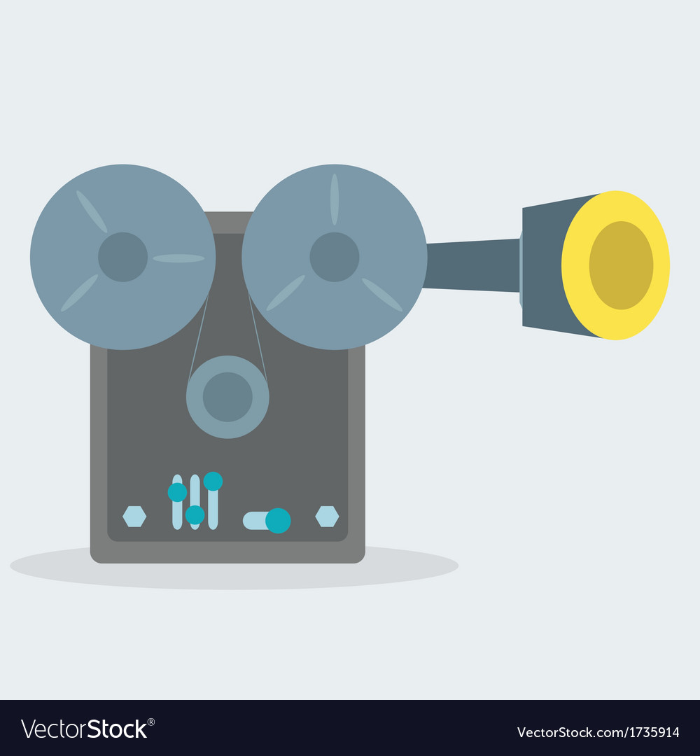 Movie projector vector | Price: 1 Credit (USD $1)