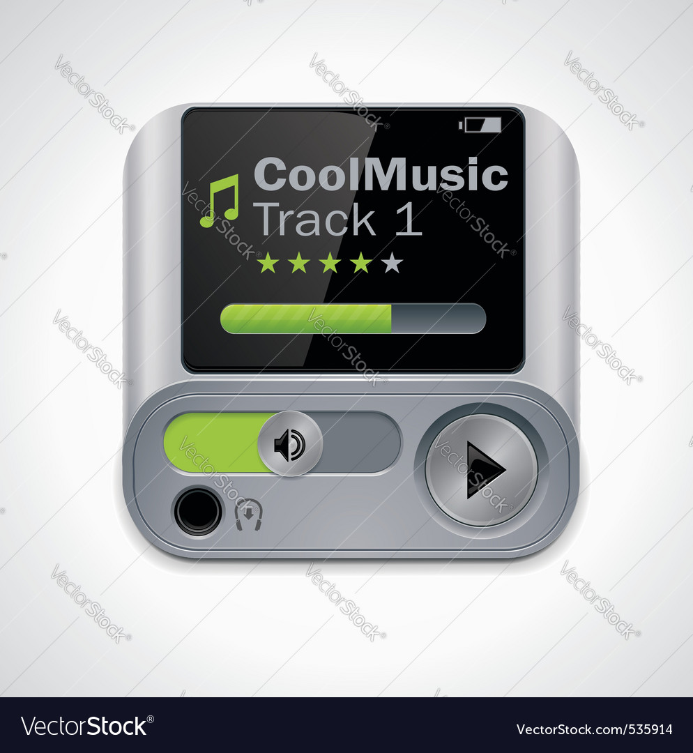 mp3 player xxl icon vector | Price: 3 Credit (USD $3)