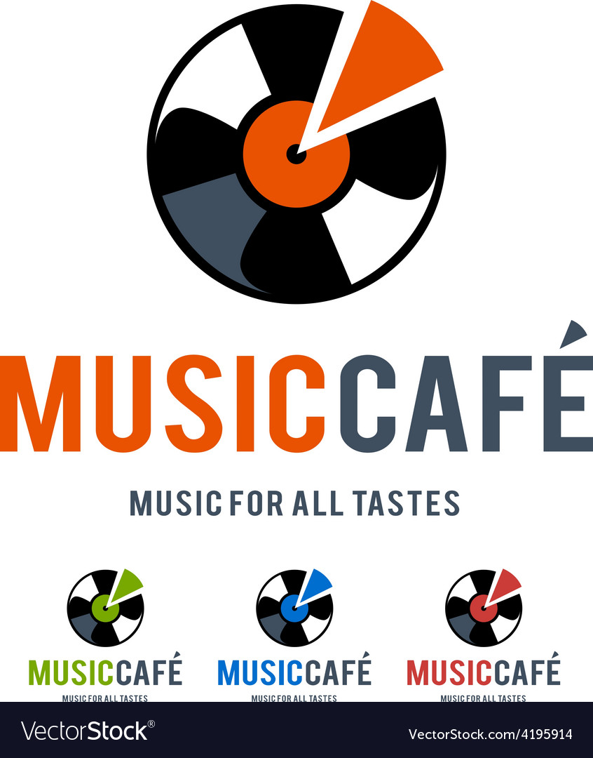 Music cafe logo vector | Price: 1 Credit (USD $1)