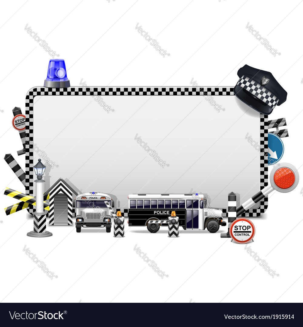 Police frame vector | Price: 1 Credit (USD $1)