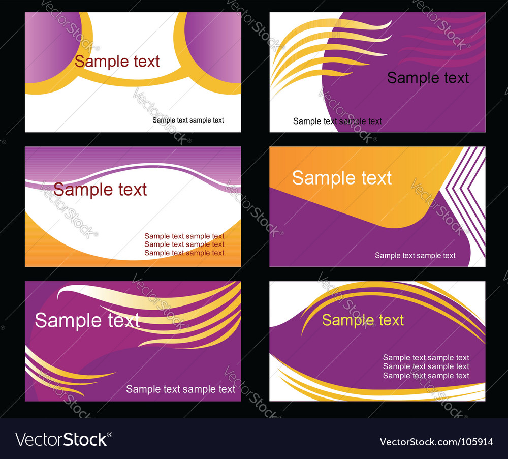 Set of business cards vector   Price: 1 Credit (USD $1)