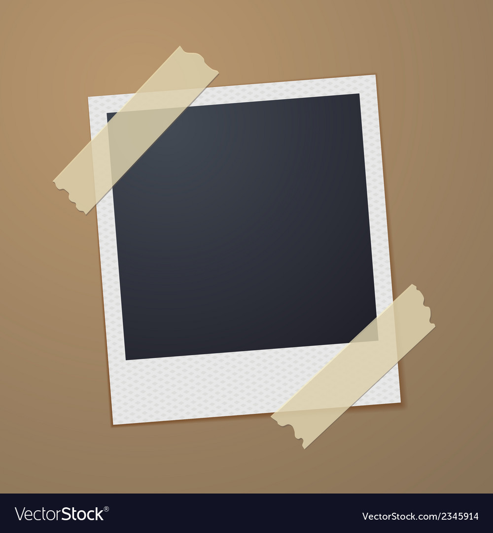 Taped retro style photo frame vector | Price: 1 Credit (USD $1)