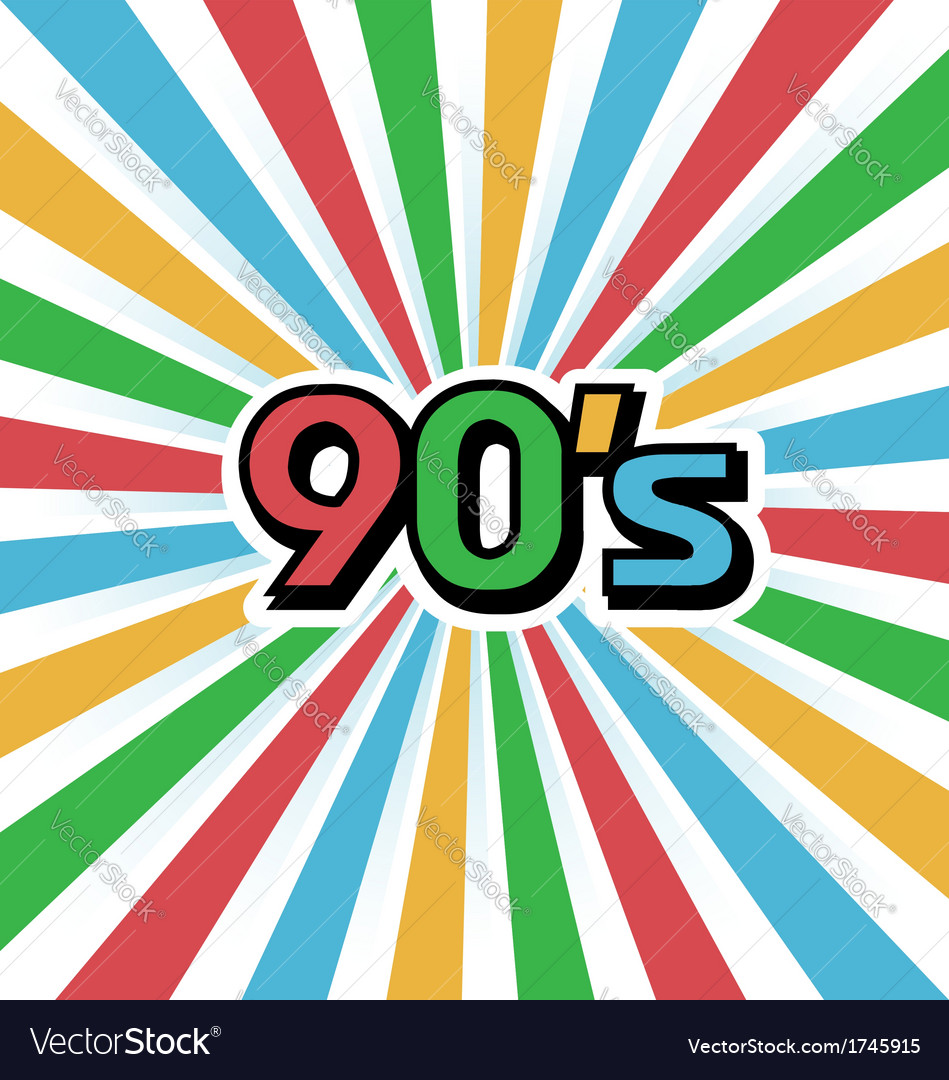 90s vintage art background vector | Price: 1 Credit (USD $1)
