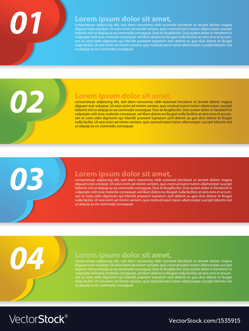 Abstract colorful set of banner vector | Price: 1 Credit (USD $1)