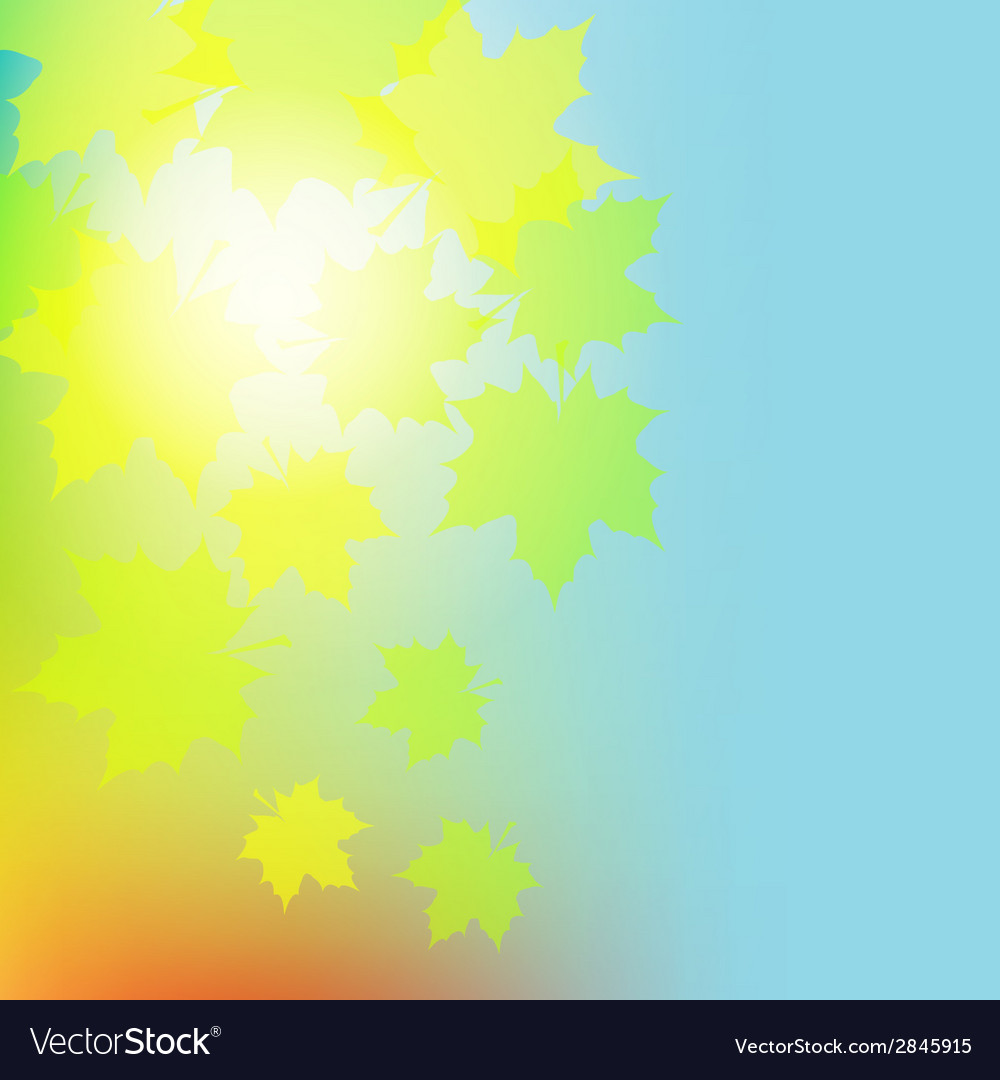 Autumn colorful leaves on colorful background vector | Price: 1 Credit (USD $1)
