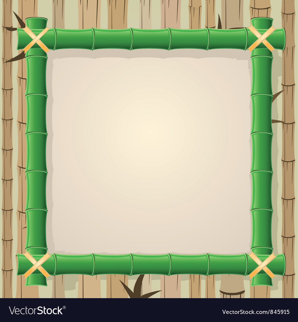 Bamboo frame vector | Price: 1 Credit (USD $1)