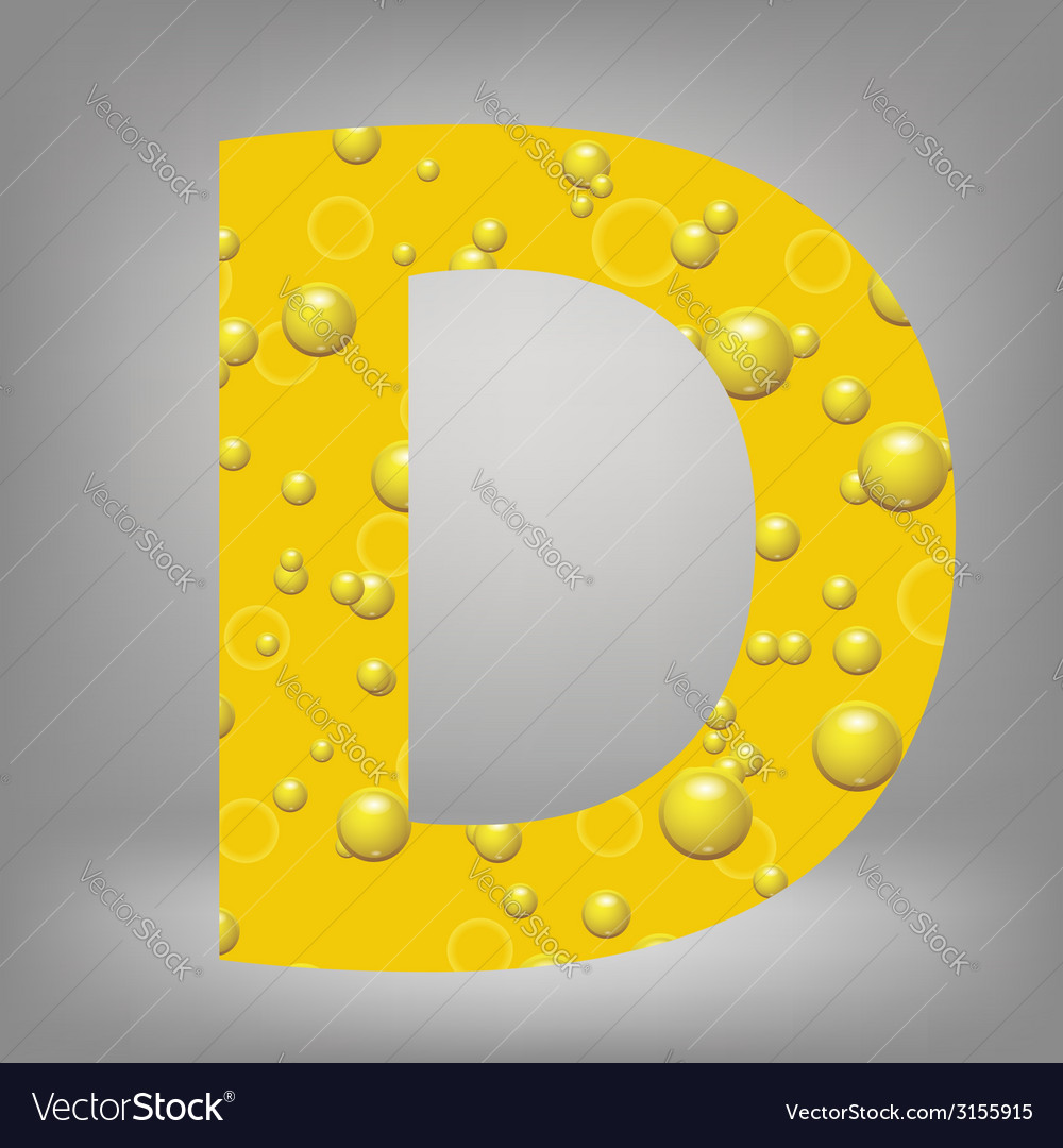 Beer letter d vector | Price: 1 Credit (USD $1)