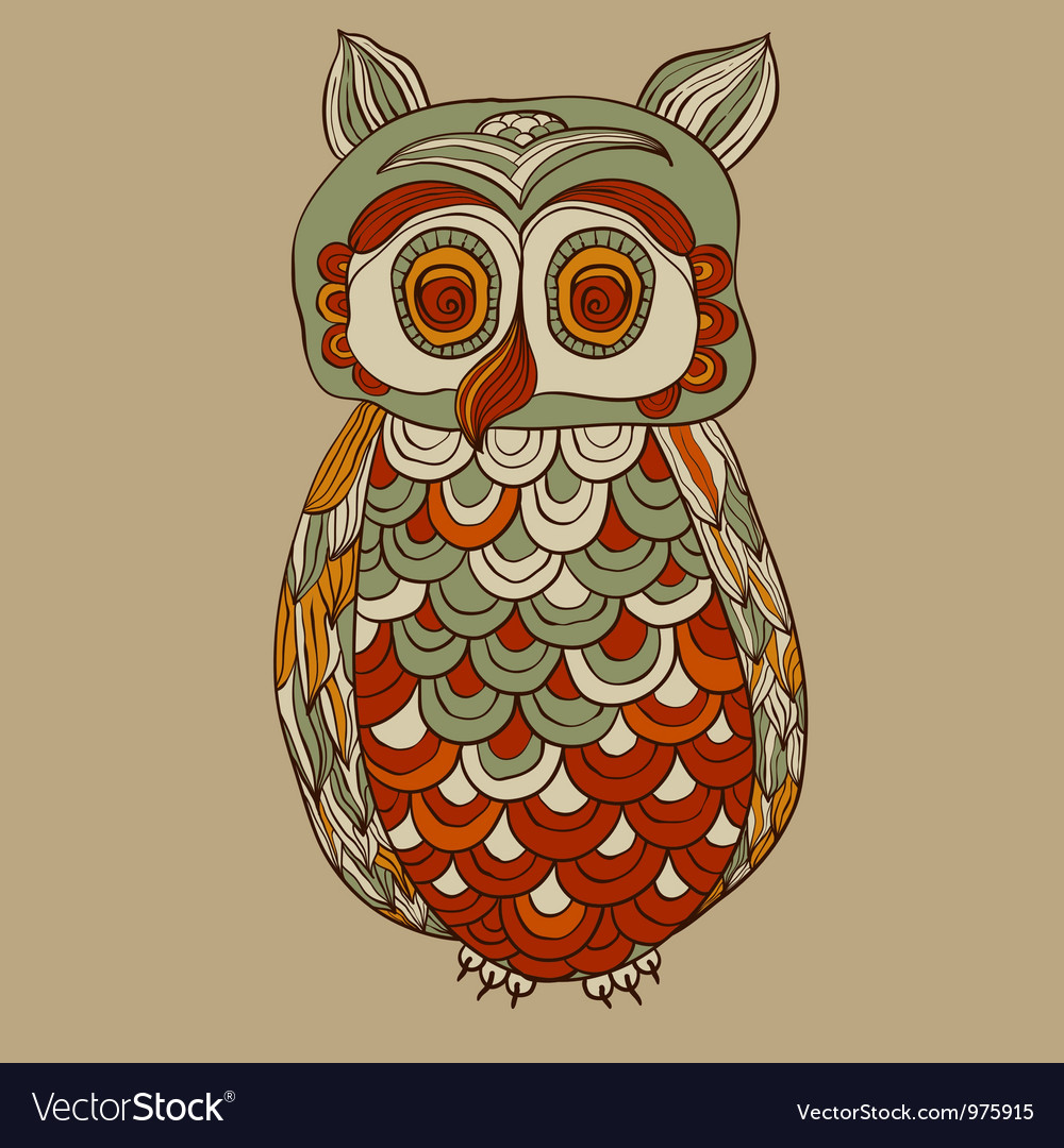 Bizarre funky owl vector | Price: 1 Credit (USD $1)