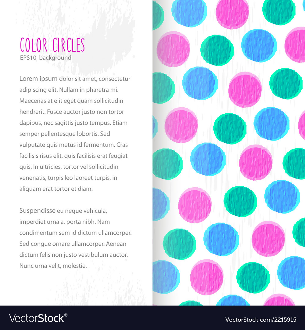 Color circles background vector | Price: 1 Credit (USD $1)