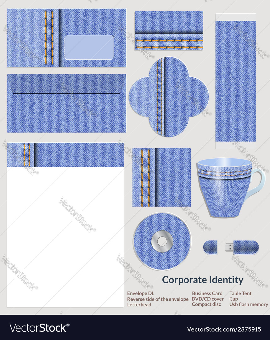 Design of corporate identity denim pattern for the vector   Price: 1 Credit (USD $1)
