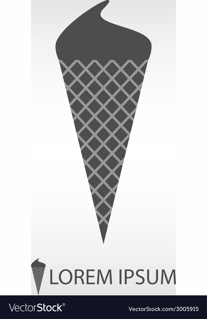 Grey ice-cream vector | Price: 1 Credit (USD $1)