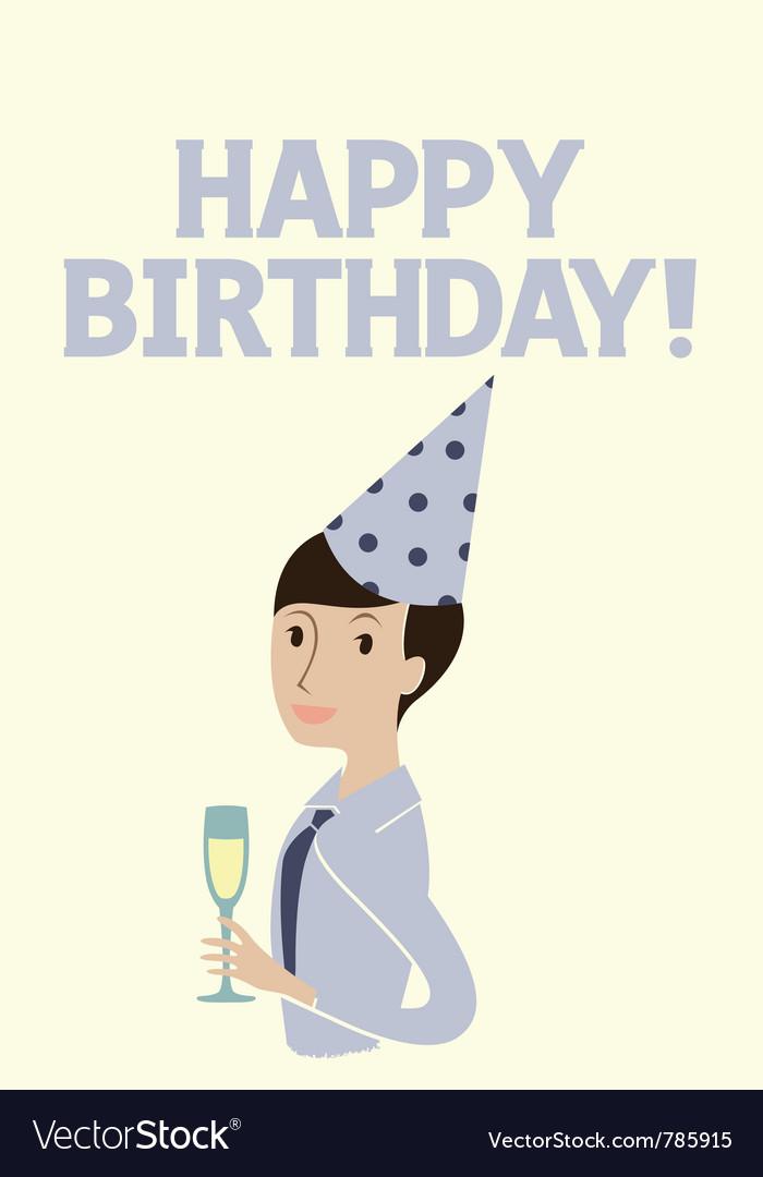 Happy birthday card model vector | Price: 1 Credit (USD $1)