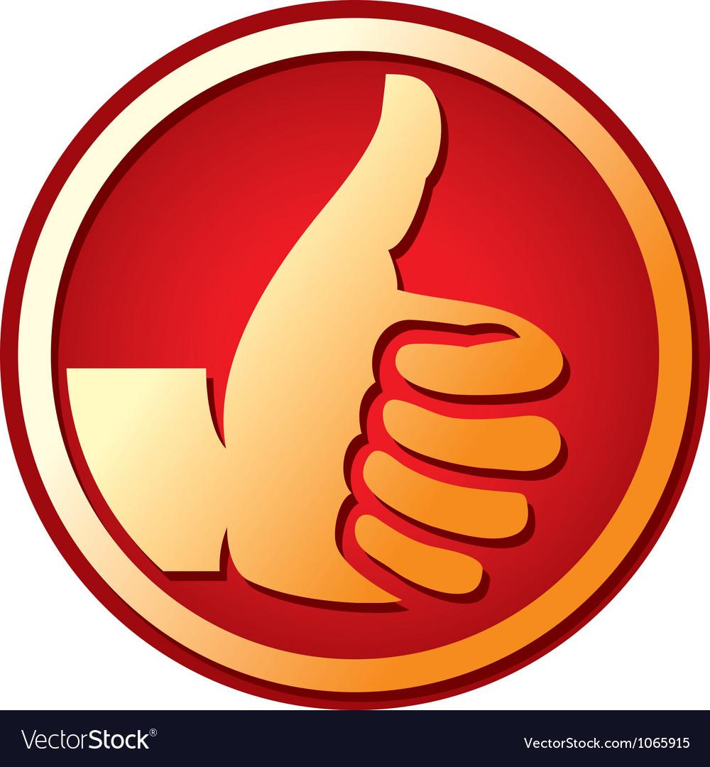Human hand giving ok vector | Price: 1 Credit (USD $1)
