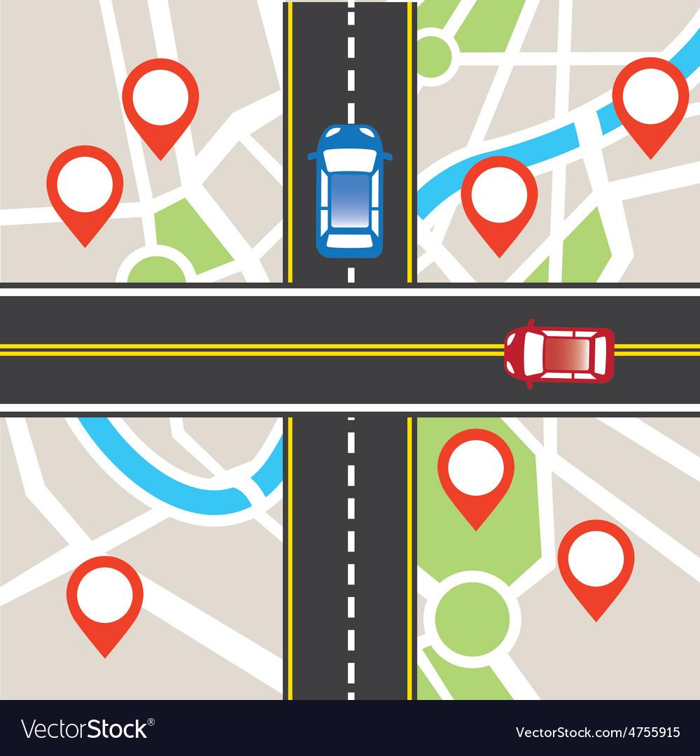 Road traffic vector | Price: 1 Credit (USD $1)