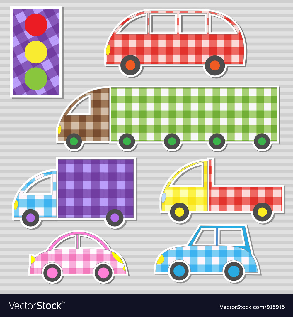 Transport textile stickers vector | Price: 1 Credit (USD $1)