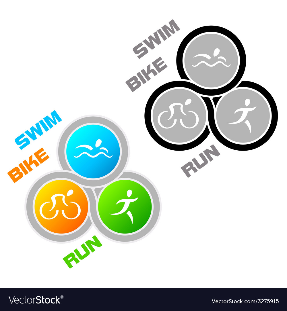 Triathlon symbol vector | Price: 1 Credit (USD $1)