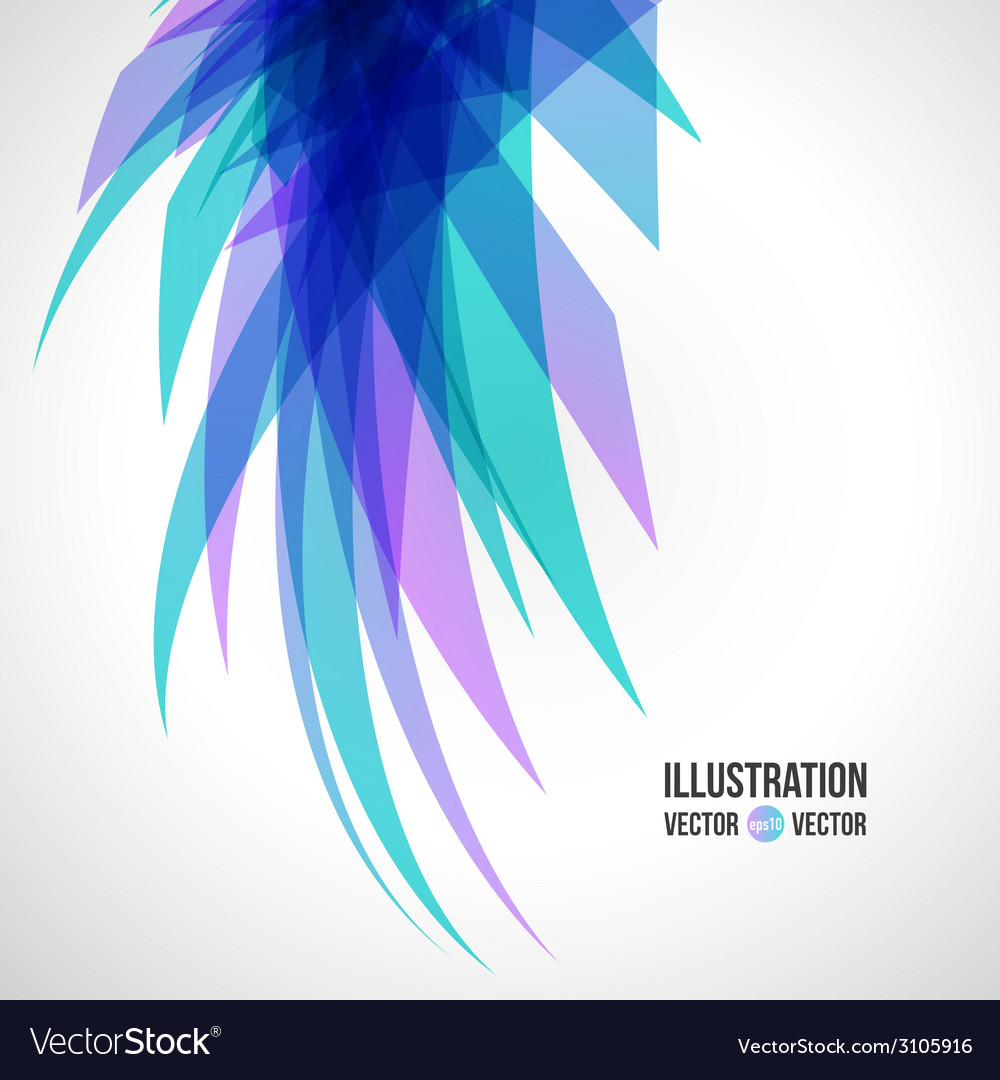 Abstract background of blue fragments vector | Price: 1 Credit (USD $1)