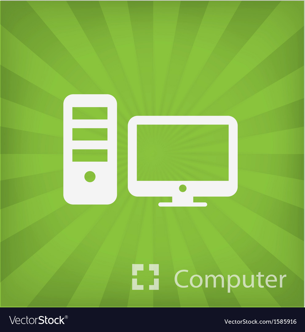 Computer icon in minimal style vector | Price: 1 Credit (USD $1)
