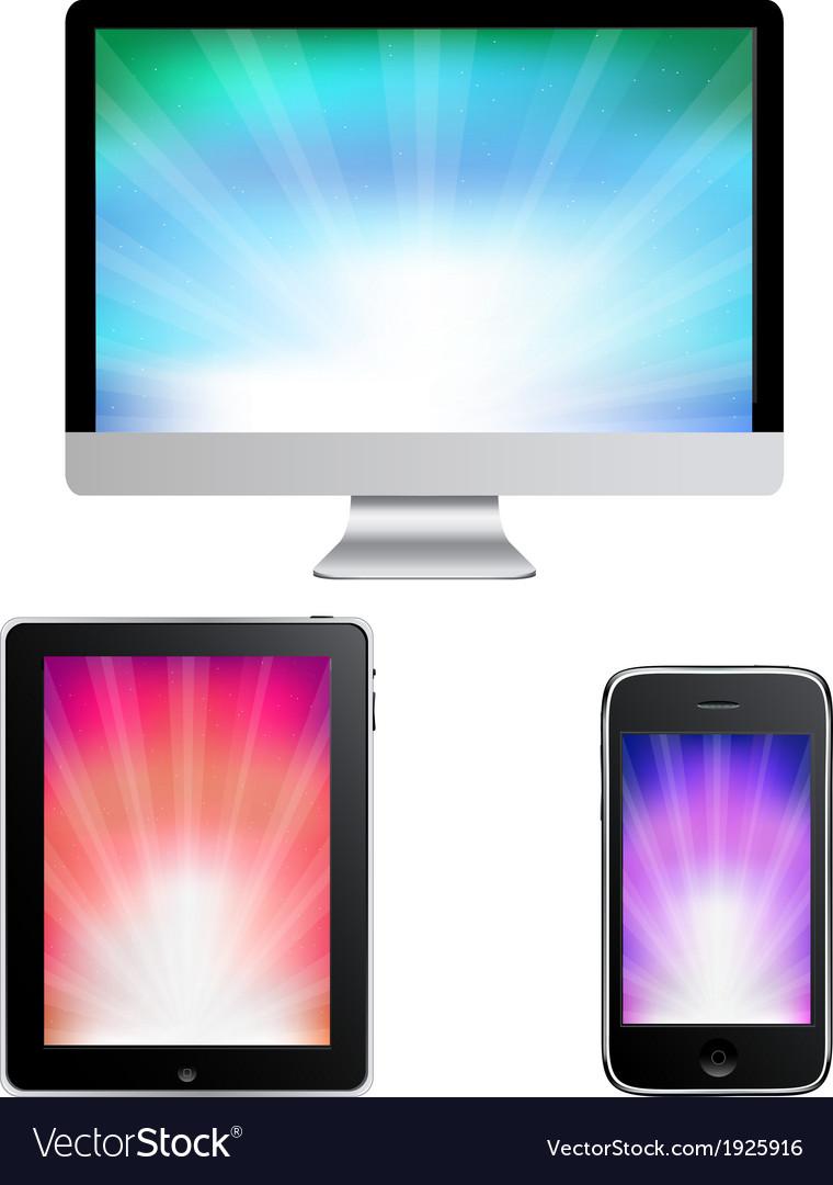 Contemporary gadgets vector   Price: 1 Credit (USD $1)