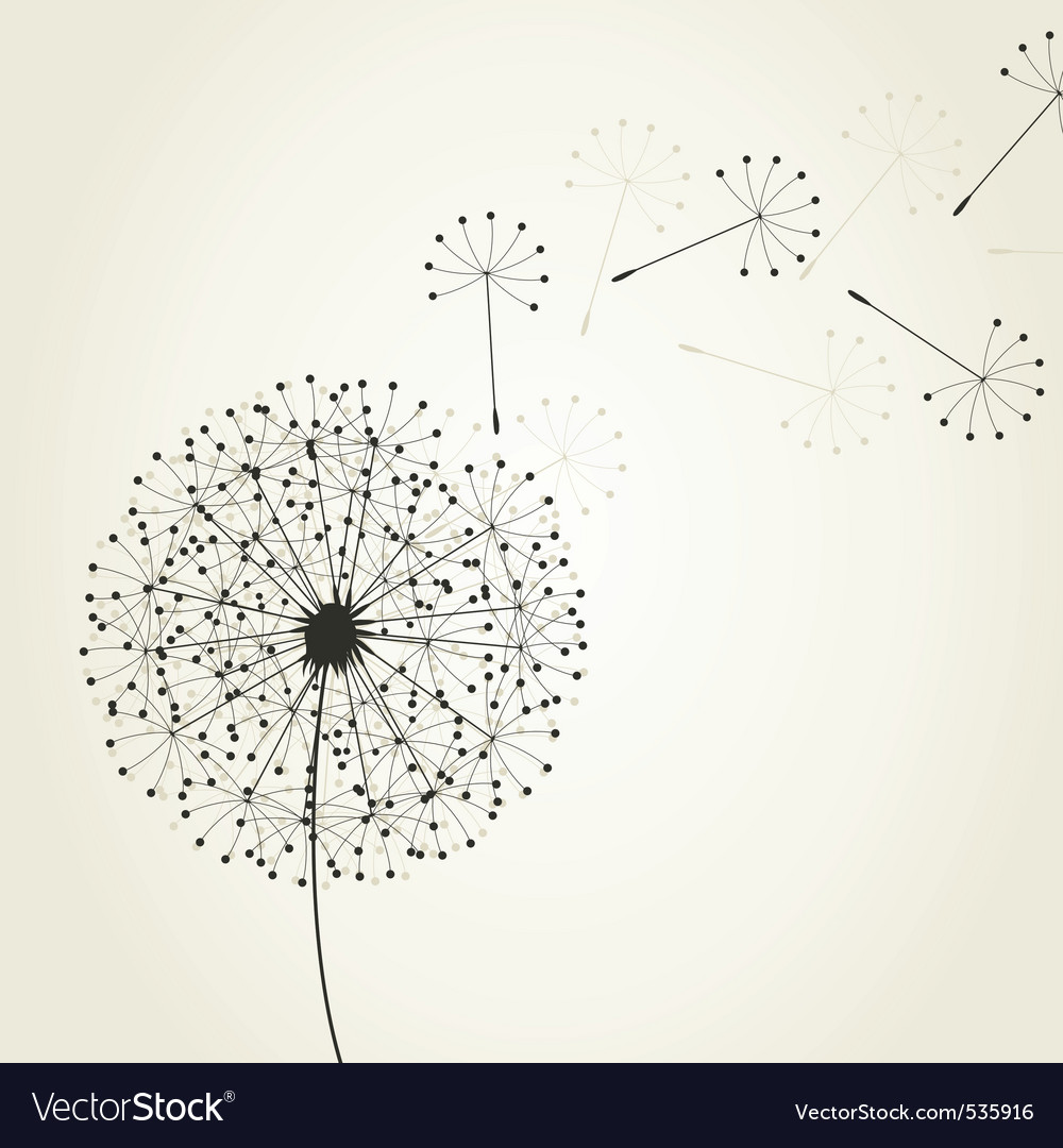Dandelion seeds vector | Price: 1 Credit (USD $1)