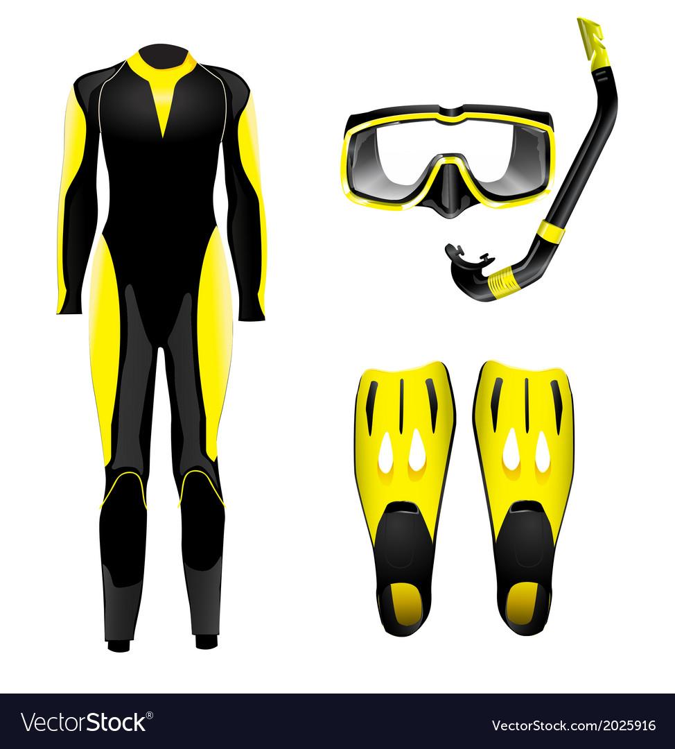 Diving gear vector | Price: 1 Credit (USD $1)