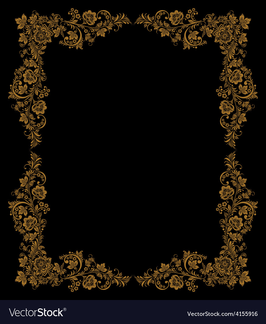 Elegant decorative khokhloma postcard frame vector   Price: 1 Credit (USD $1)