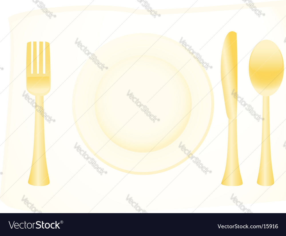 Flatware vector | Price: 1 Credit (USD $1)