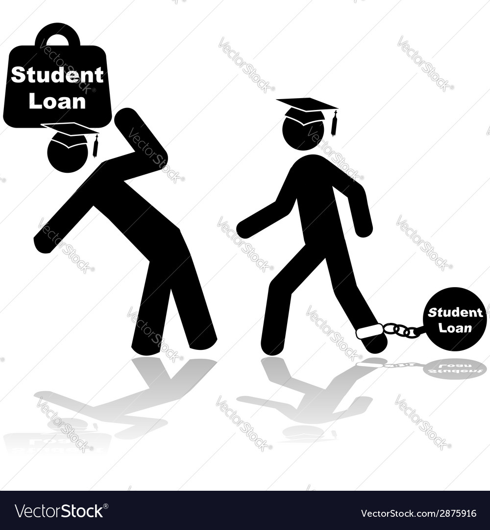 Student loan burden vector | Price: 1 Credit (USD $1)