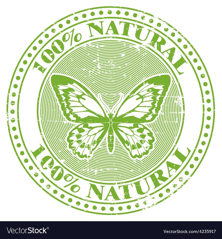 100 natural stamp vector | Price: 1 Credit (USD $1)