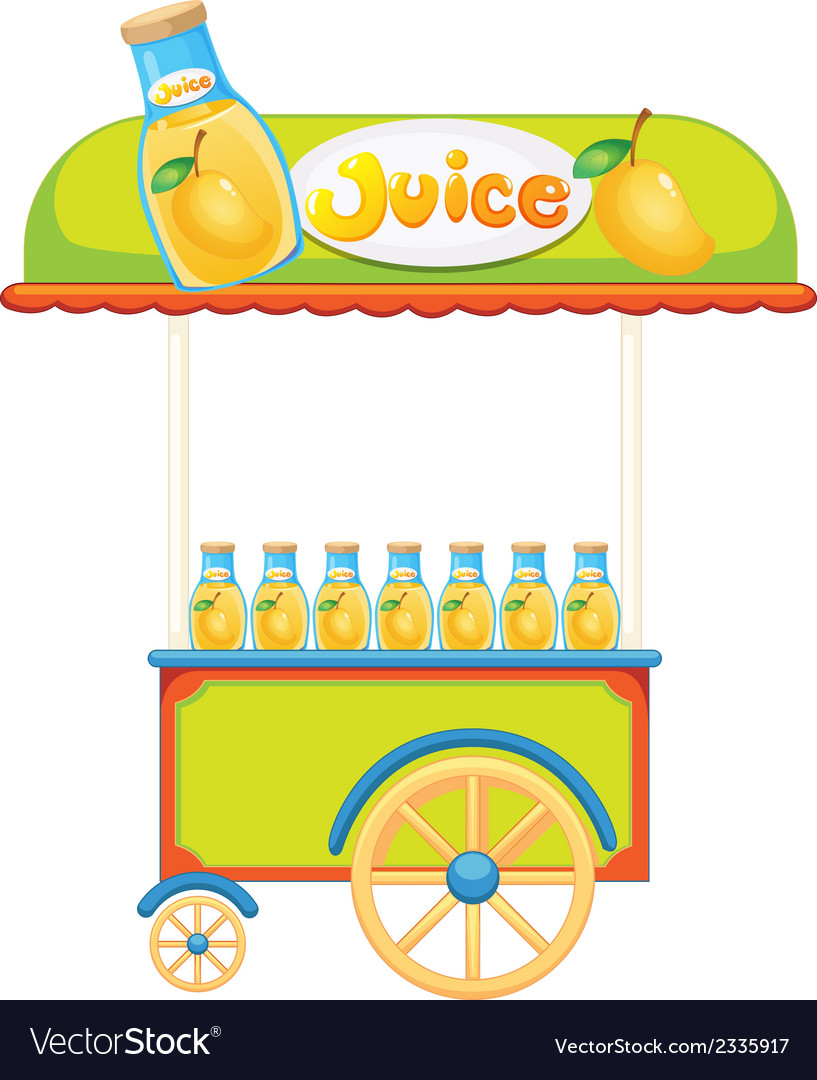A wooden juice cart vector | Price: 1 Credit (USD $1)