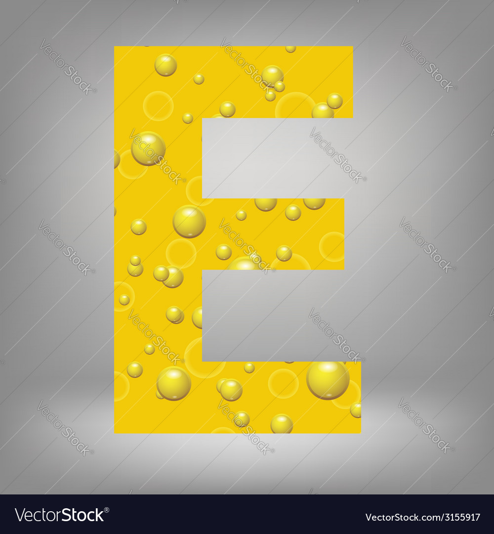 Beer letter e vector | Price: 1 Credit (USD $1)