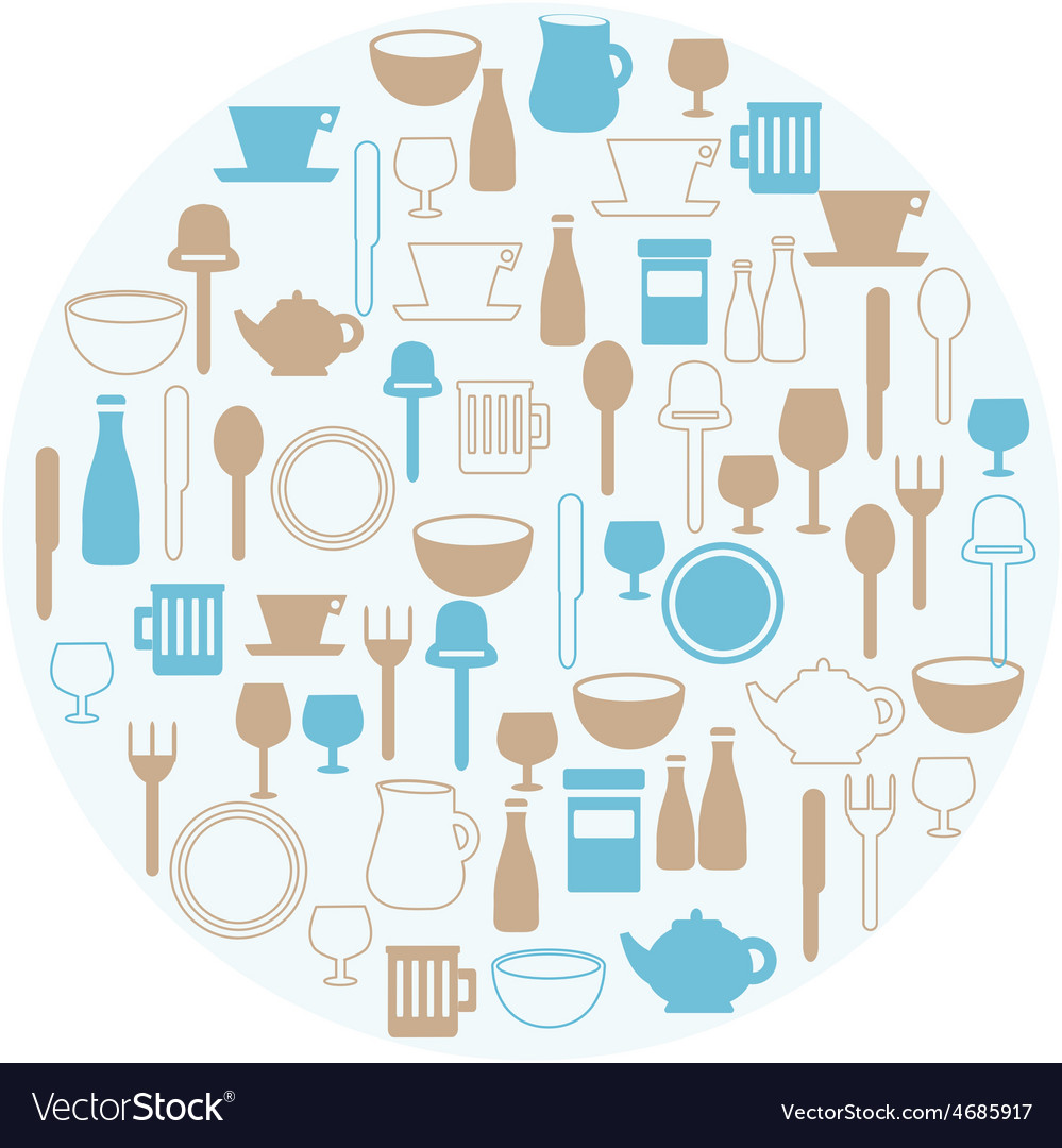 Dining icons vector | Price: 1 Credit (USD $1)