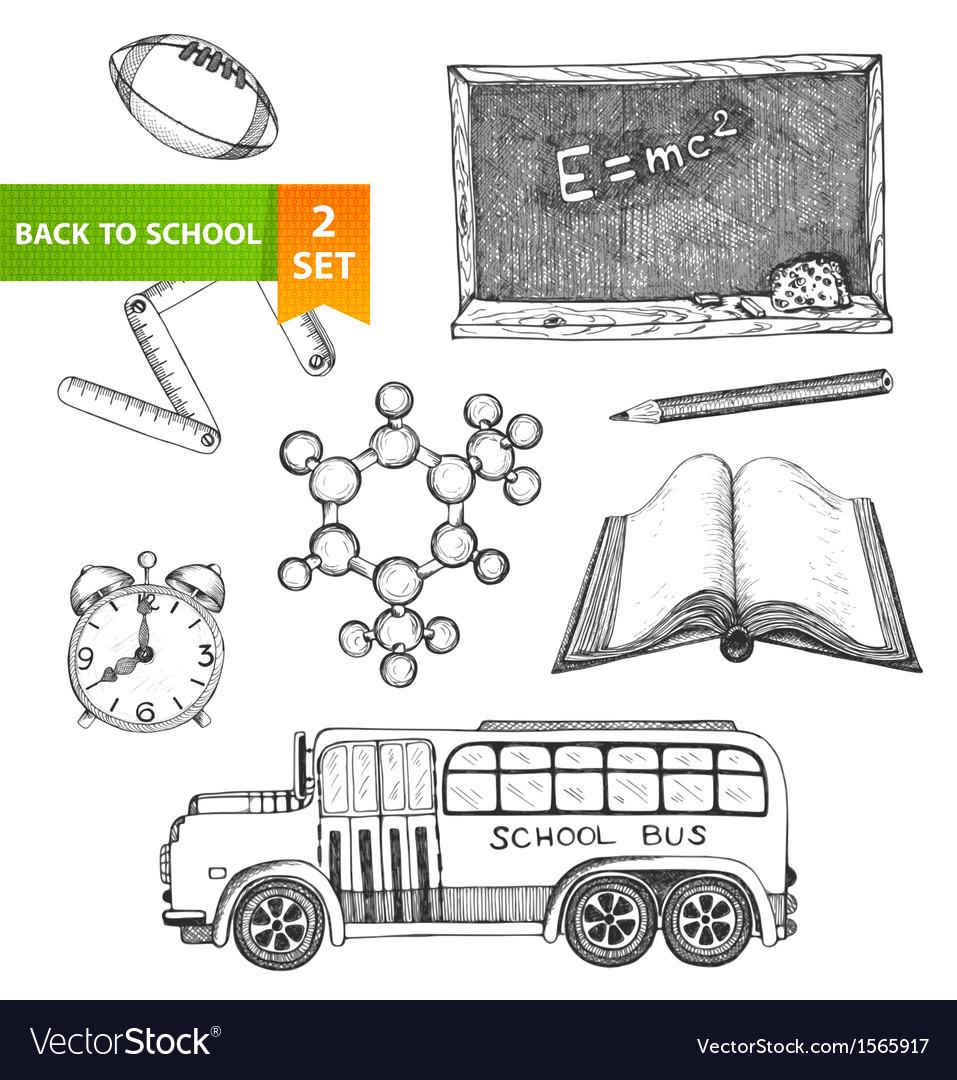 Education school set vector   Price: 1 Credit (USD $1)