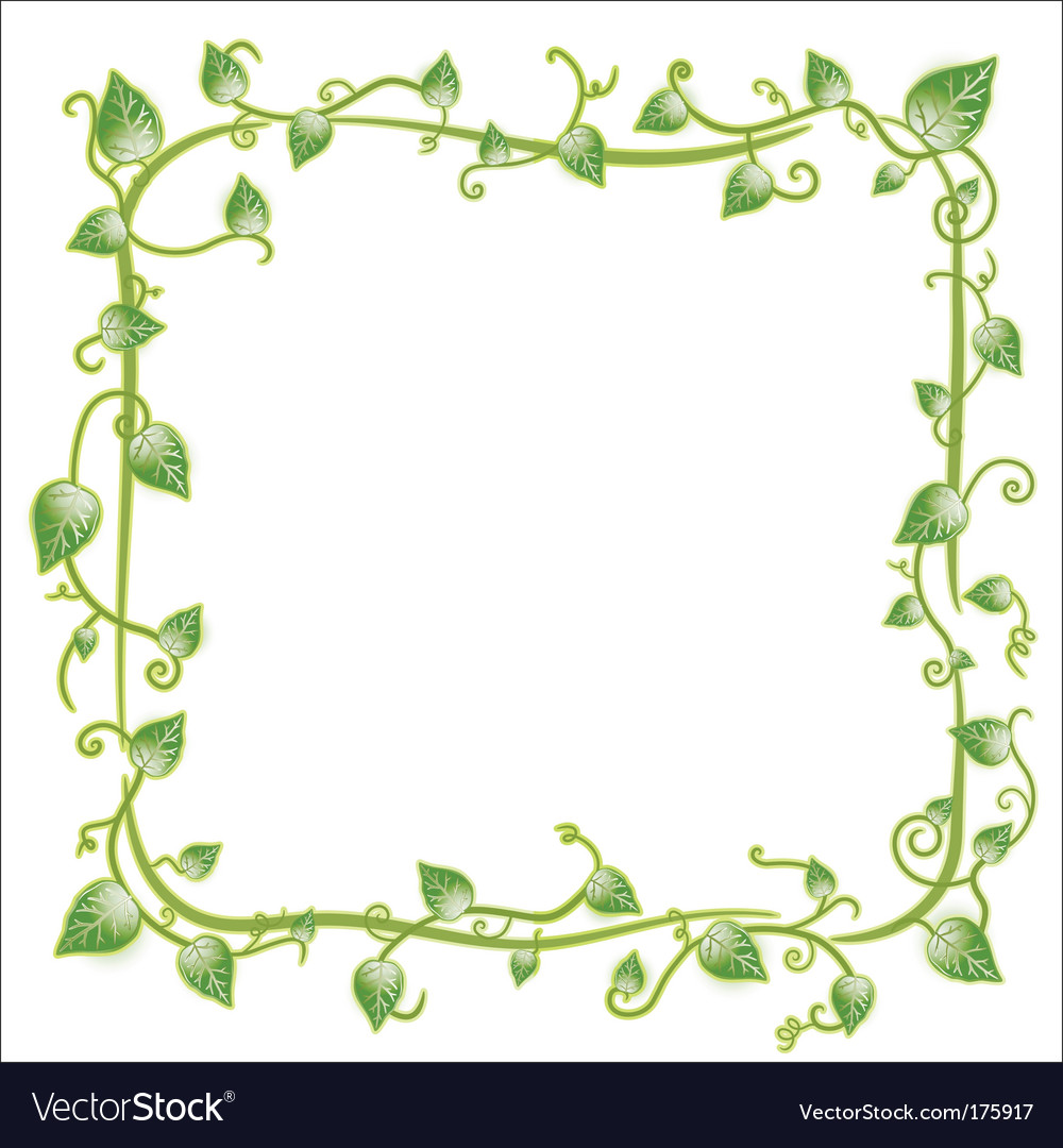 Floral leaf frame vector | Price: 1 Credit (USD $1)