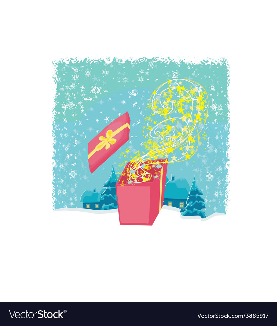 Glowing magic gift box vector   Price: 1 Credit (USD $1)