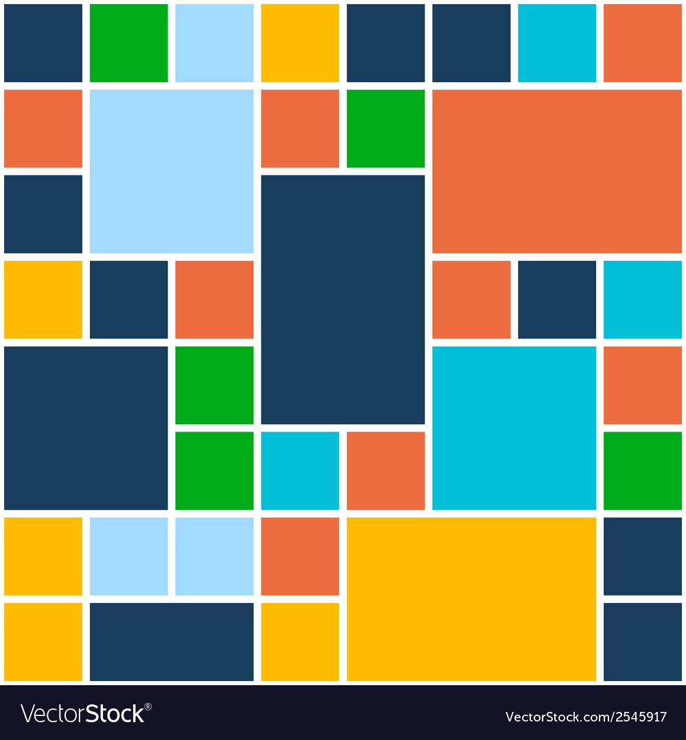 Squares color background template for flat design vector | Price: 1 Credit (USD $1)
