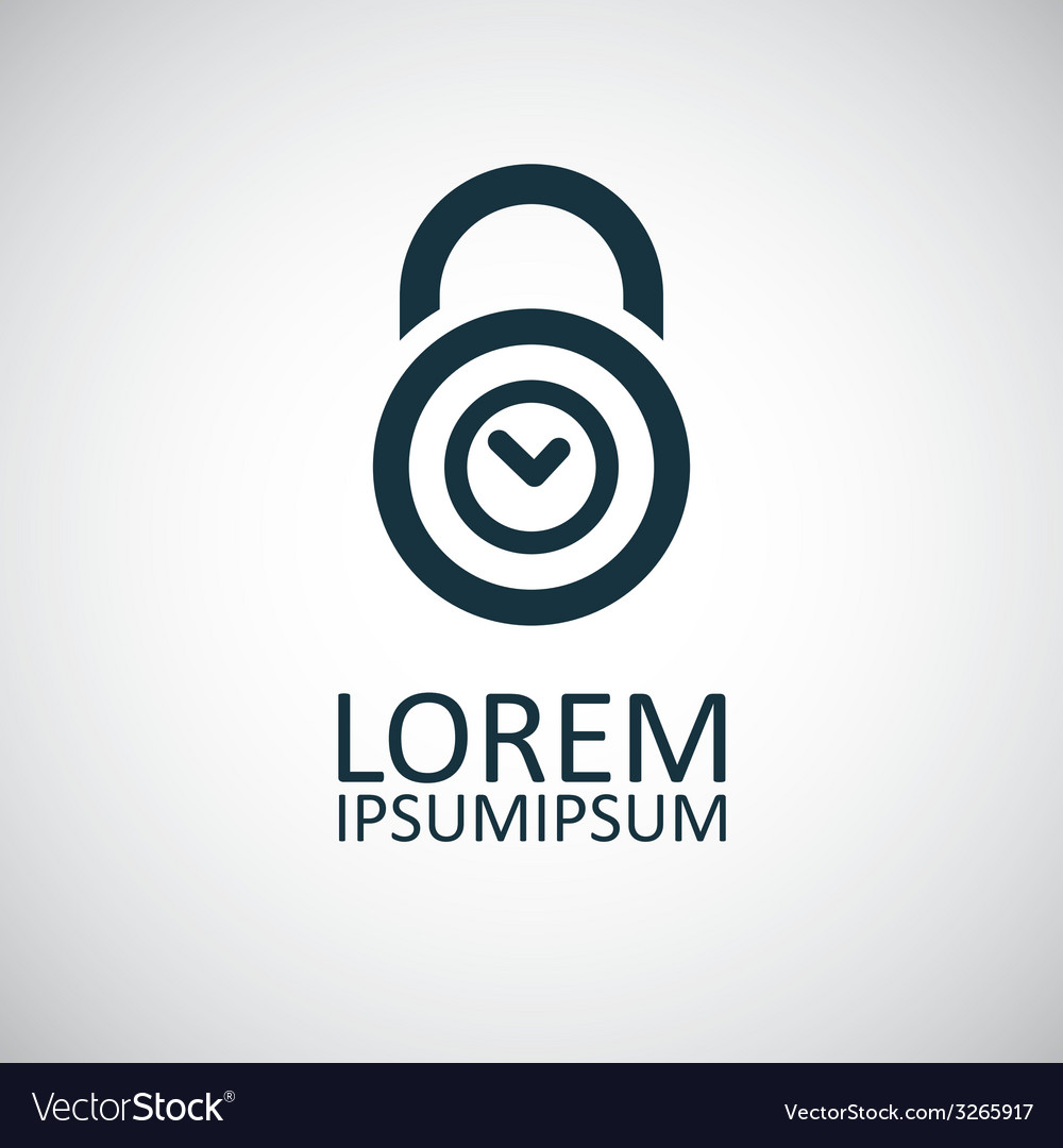 Time lock icon vector | Price: 1 Credit (USD $1)