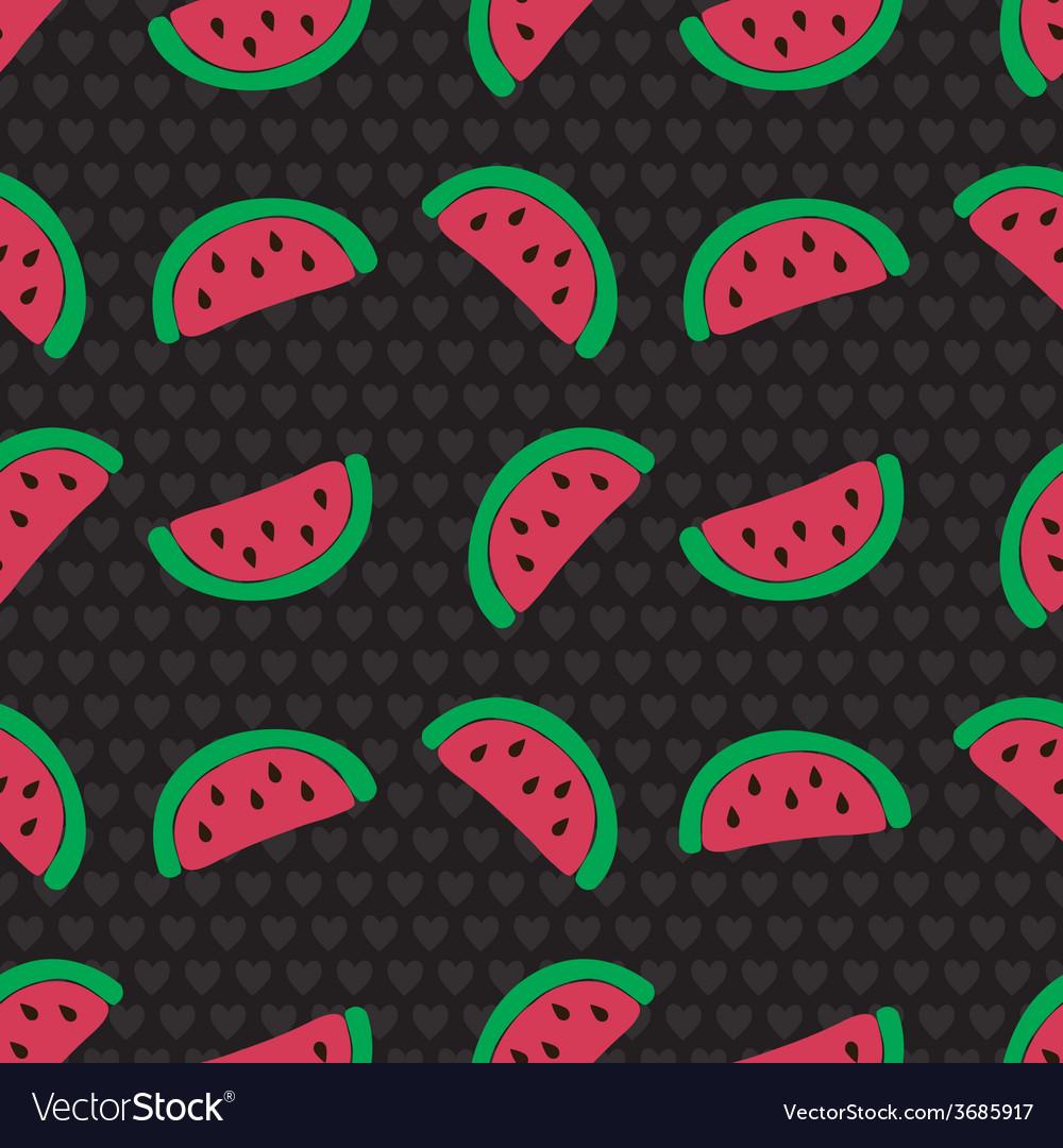 Watermelon slice seamless pattern vector | Price: 1 Credit (USD $1)