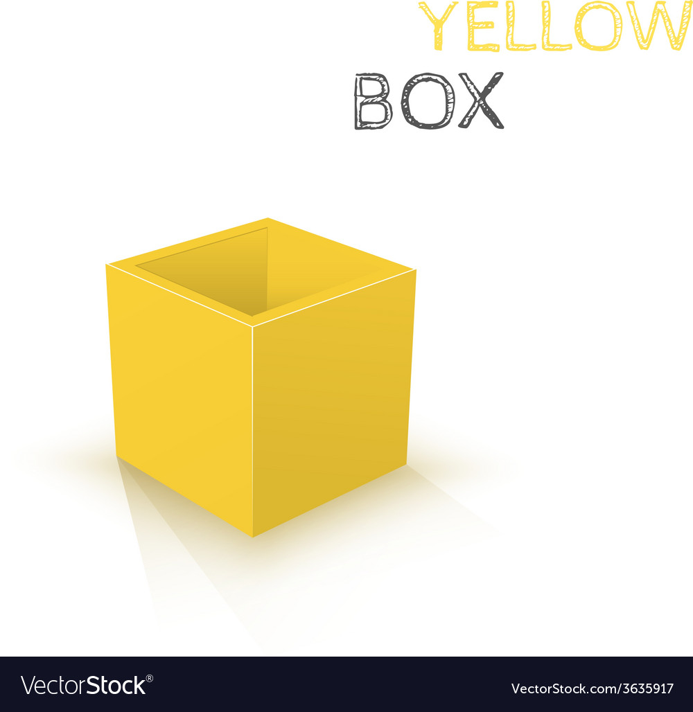 Yellow box isolated on white background vector | Price: 1 Credit (USD $1)