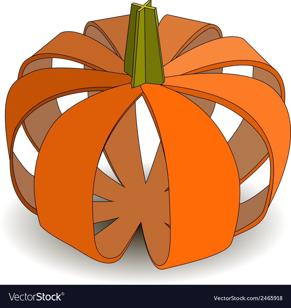 Abstract applique pumpkin on halloween vector | Price: 1 Credit (USD $1)