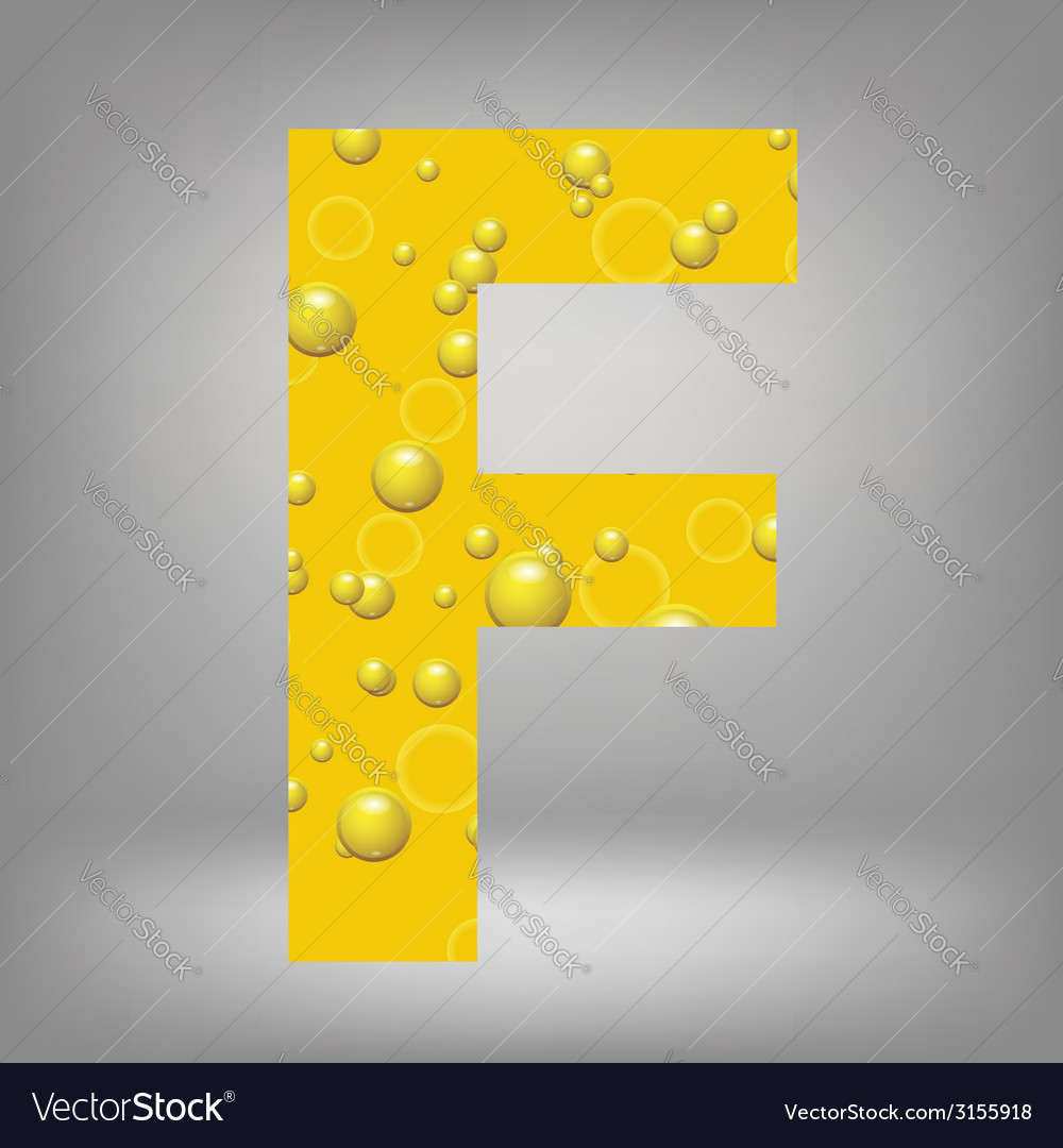 Beer letter f vector | Price: 1 Credit (USD $1)