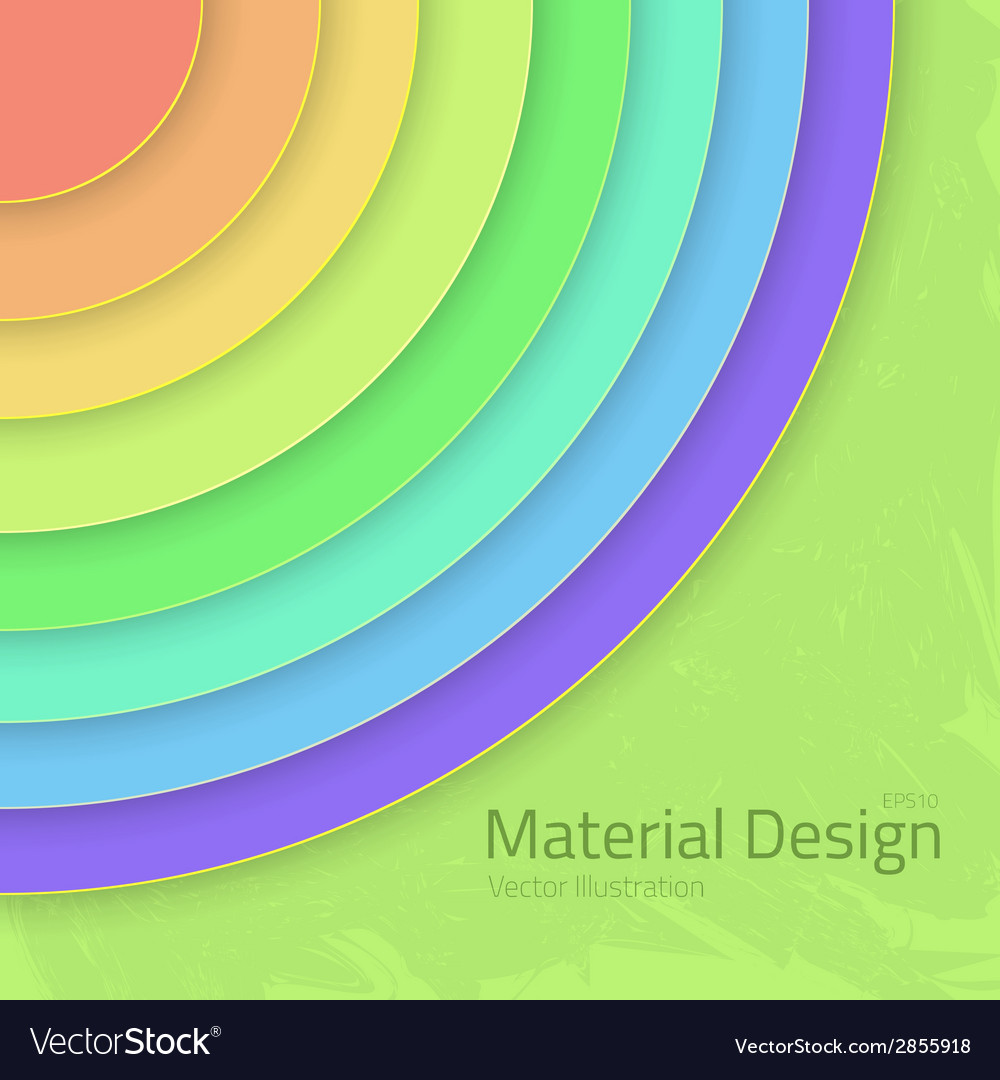Bright colorfull material design abstract circles vector | Price: 1 Credit (USD $1)