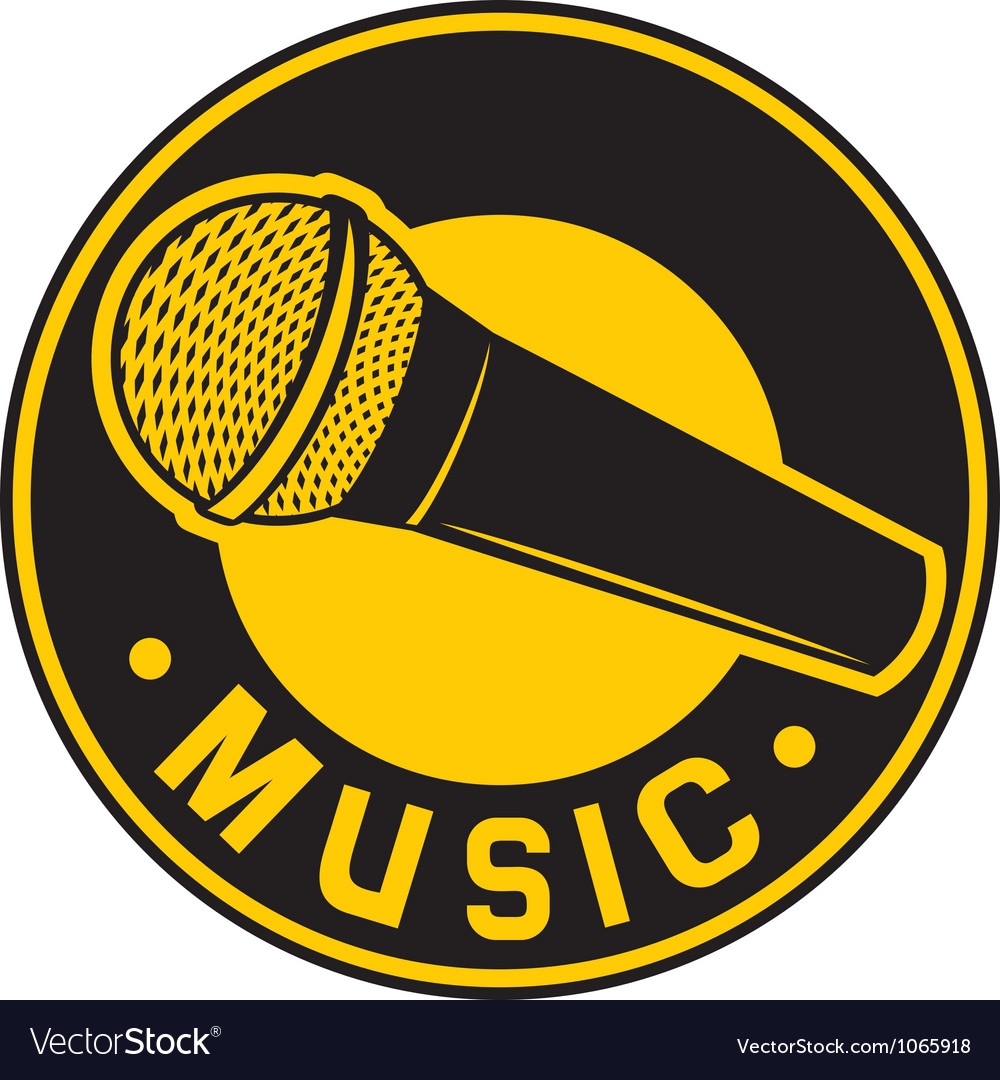 Classic microphone symbol vector | Price: 1 Credit (USD $1)